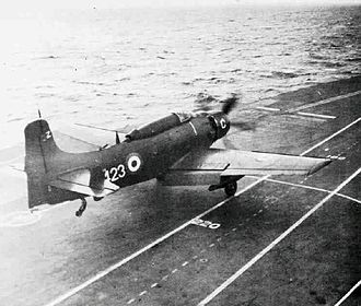 849 Naval Air Squadron - 849 Sqn. Douglas Skyraider AEW.1 taking off from HMS Albion