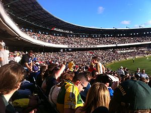 2014 International Rules Series - Crowd at City end of Stadium