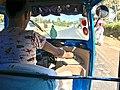 A Bajaj driver in sebeta, from meta brewery company to sebeta town, Oromia region, Ethiopia.jpg