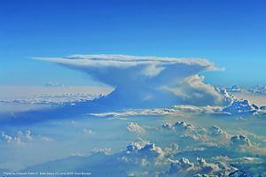 Cumulonimbus incus - Image: A Classic Anvil Cloud Over Europe