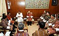A Parliamentary Delegation from Bhutan led by the Speaker of the National Assembly of the Parliament of Bhutan, Mr. Jigme Zangpo meeting the Union Minister for Urban Development.jpg
