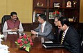 A Saudi delegation led by Mr. Ziyad Juraifani, head of JVC originations for Saudi Aramco meeting the Minister of State for Petroleum and Natural Gas (Independent Charge), Shri Dharmendra Pradhan, in New Delhi.jpg