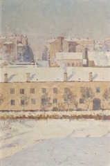 A Winter Scene. Motif from Southern Stockholm