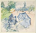 A Woman Seated at a Bench on the Avenue du Bois MET DP807732.jpg