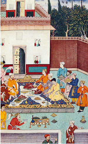 Banquet - A banquet for Babur
