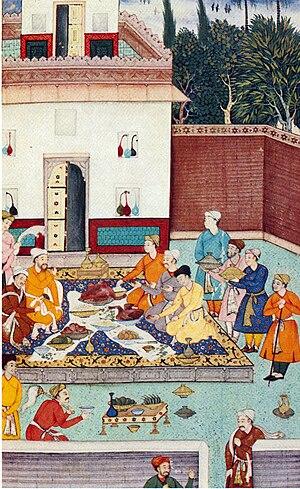 Banquet - A banquet for Babur