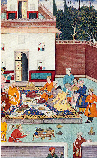 Banquet - A banquet for Babur.