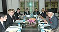 A delegation led by the Australian Minister for Resources, Energy and Tourism, Mr. Martin Ferguson meeting the Union Minister of New and Renewable Energy, Dr. Farooq Abdullah, in New Delhi on February 05, 2010.jpg