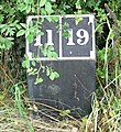A mile marker along the Ashby Canal - geograph.org.uk - 918452.jpg