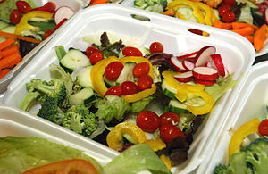 Joint Task Force Guantanamo - A salad that was served to a detainee