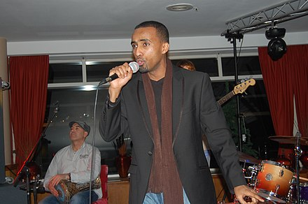 Aar Maanta performing with his band at Pier Scheveningen Strandweg in The Hague, Netherlands Aar maanta.jpg