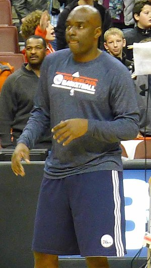 Aaron McKie - McKie as Sixers assistant coach in 2012