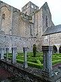 Abbaye de Hambye, Pierres en Lumières 2012 - Cloître (2).JPG