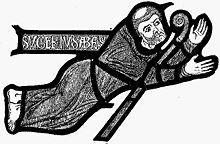 Suger de Saint-Denis en una vidriera medieval. Fuente: es.Wikipedia