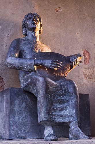 Wolfram von Eschenbach - Statue of Wolfram at Burg Abenberg
