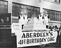 Aberdeen's 41st birthday cake and bakers being transported on a truck, Aberdeen, Washington, ca 1925 (PORTRAITS 734).jpg