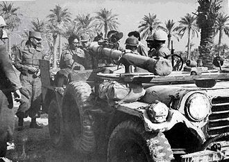 Iran–Iraq War - Iranian Jeep mounted 106mm recoilless anti-tank gun