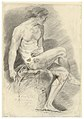 Academic study of a nude , drawing by James Ensor, Prints Department, Royal Library of Belgium, S. IV 31437.jpg