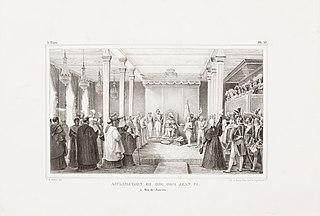 Acclamation du roi Dom Jean VI à Rio de Janeiro