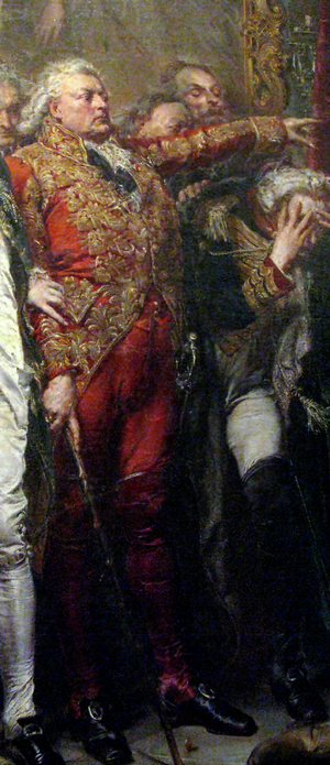 Adam Poniński (1732–1798) - Adam Poniński on a fragment of Jan Matejko's picture