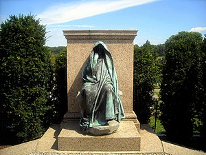 1891 in the United States - Adams Memorial by Augustus Saint-Gaudens, built in 1891,  Washington, D.C