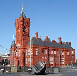 Pierhead Building - Image: Adeilad y Pierhead, Caerdydd