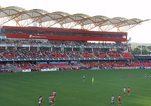 Carrara Stadium - Media facilities at Carrara Stadium.