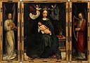 Adriaen Isenbrant - Triptych Madonna Enthroned with music-making angels.jpg