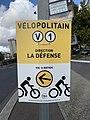Affiche Direction Vélopolitain Ligne 1 Avenue Porte Vincennes - Paris XX (FR75) - 2020-10-26 - 1.jpg