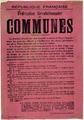 Affiche première Commune de Lyon, Archives municipales de Lyon, 6fi 6833.TIF