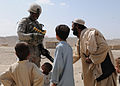 Afghan Border Patrol Leader Inspects Outpost, Meets With Local Villagers DVIDS270860.jpg