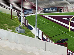 Aggie Memorial Stadium - ROTC Cannon & Bell
