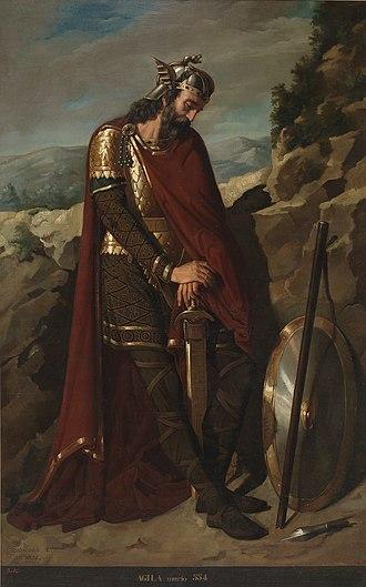 Dióscoro Puebla - Agila I, King of the Visigoths, (1853)