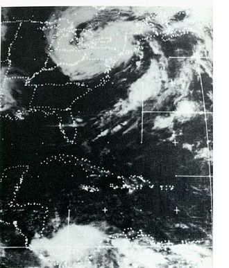 Hurricane Agnes - Remnants of Agnes over northeastern United States