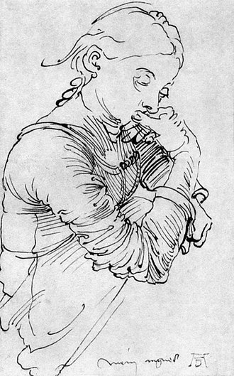 Agnes Dürer - My Agnes, drawing by Albrecht Dürer, 1494