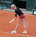 Agnieszka Radwańska Roland Garros 2013 3rd round match vs Dinah Pfizenmaier - serving2.JPG