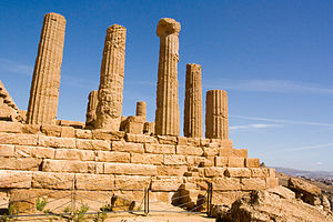 Architecture of Italy - The Greek archaeological remains of Agrigento, in Sicily.