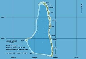 Ailuk Atoll - Map of Ailuk Atoll