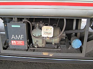 Amfleet - The air-conditioning unit underneath an Amfleet car