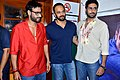 Ajay Devgn, Rohit Shetty, Abhishek Bachchan 'Bol Bachchan' team on the sets of Taarak Mehta Ka Ooltah Chashmah 07.jpg