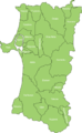 Akita Prefecture cities and towns 2.png