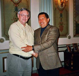 International Marxist Tendency - Leading theoretician of the International Marxist Tendency Alan Woods, in a meeting with Venezuelan president Hugo Chávez.