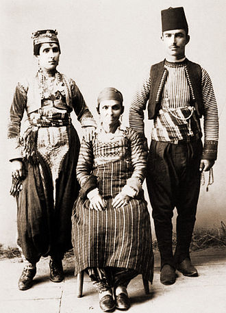 Albanians in North Macedonia - Albanian catholic family from Skopje