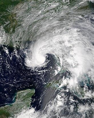2018 Atlantic hurricane season - Image: Alberto 2018 05 27 1621Z