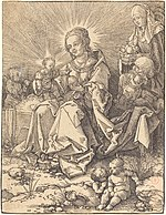 Albrecht Dürer, The Holy Family on a Grassy Bench, 1526, NGA 33033.jpg