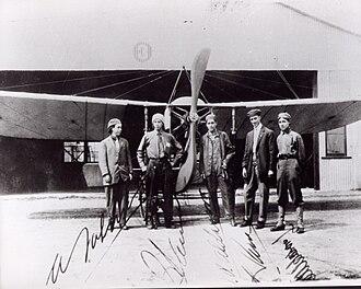 Aldasoro brothers - Five Mexican pilots that attended the Moissant School of aviation. From Left: Alberto Salinas Carranza, Gustavo Salinas Camiña, Juan Pablo Aldasoro Suárez, Horacio Ruiz Gaviño, Eduardo Aldasoro Suárez.