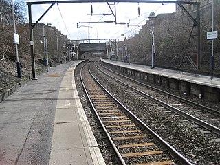 Alexandra Parade railway station railway station in Glasgow City, Scotland, UK