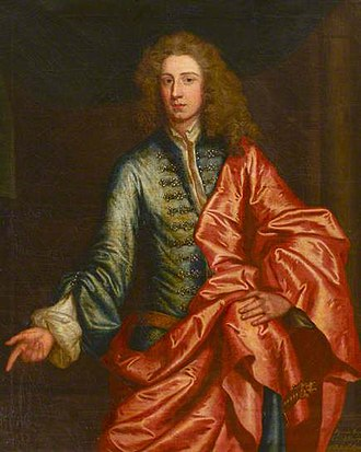 Algernon Seymour, 7th Duke of Somerset - Algernon Seymour, Earl of Hertford, later 7th Duke of Somerset, portrait by John Vanderbank (1694–1739), c. 1700. Egremont Private Collection, Petworth House
