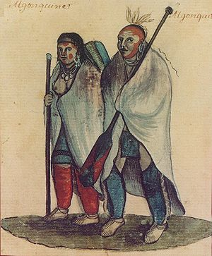 Algonquian peoples - Algonquian couple, 18th-century