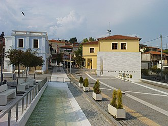 Alistrati - central square of Alistrati.